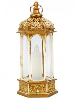 К30536(12) Светодиодная свеча в фонаре 5,5*6*14,5 (э/питания)