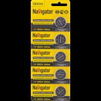 .Navigator NBT-CR2016-BP5 литиевые 94 763 (кратно 5)