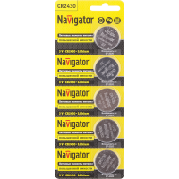 .Navigator NBT-CR2430-BP5 литиевые 94 781 (кратно 5)