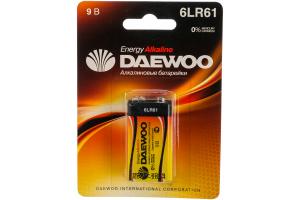 Daewoo 6LR61 ENERGY Alkaline 2021 BL-1 (кратно 1)