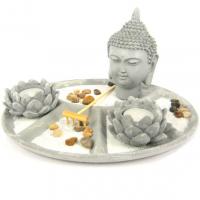 M325-7 Садик Дзен Будда, 27х11см, искусственный камень