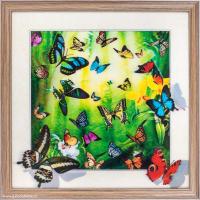 Картина 5D 40х40 035 Бабочки / ZR8210H-222411 /