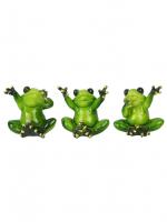 КYX3365 Фигурка декоративная лягушка 7*5,5*6,8см (3 вида)(48)