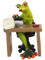 КYX09009 Фигурка декоративная лягушки 11,5*11*15 см (2 вида) (16)