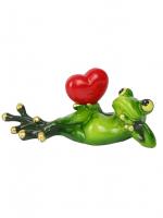 КYX6050DН Фигурка декоративная лягушка 16,3*5*6,5 см (30)