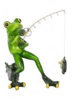 КYX69004DН Фигурка декоративная лягушка 14,5*8*15см(2 вида) (24)