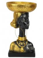 К206006 Интерьерная фигурка Африканка 19,5*19,5*35 см(4)