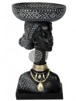 К206006-А Интерьерная фигурка Африканка 19,5*19,5*35 см(4)