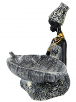 К206314-А Интерьерная фигурка Африканка 24,5*15*20,5 см(8)